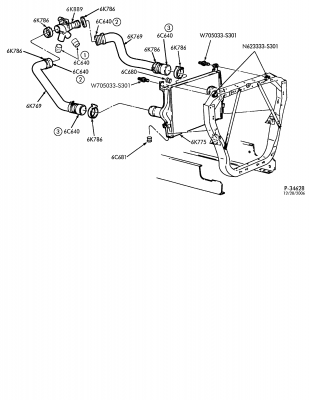 Parts Diagrams - Turbocharger air cooling system - F250SD